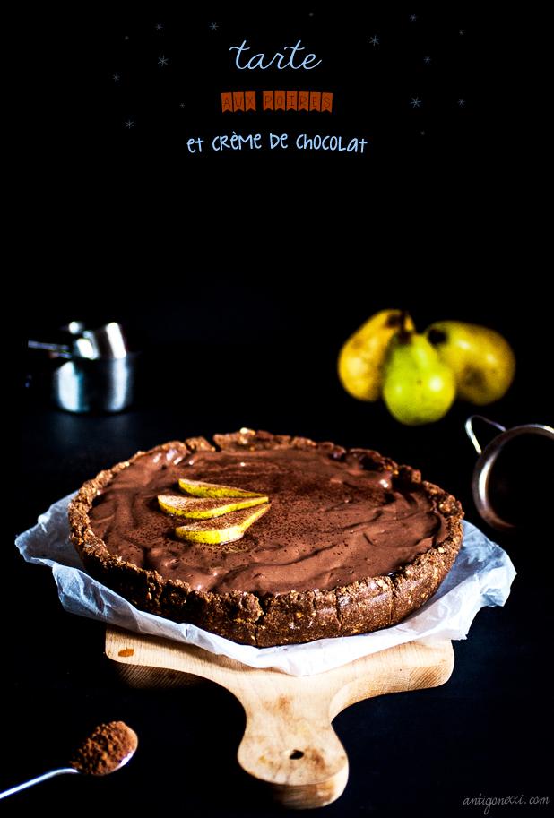 Tarte aux Poires et à la Crème de Chocolat - Antigone XXI