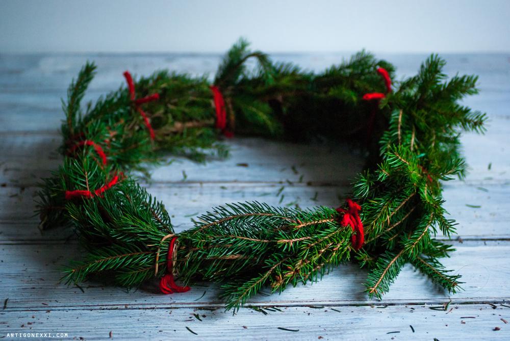 DIY de Noël : ma couronne de l'Avent - Antigone XXI