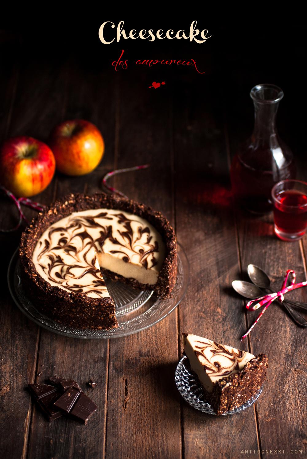 Cheesecake végane vanille & chocolat {sans gluten} | Antigone XXI